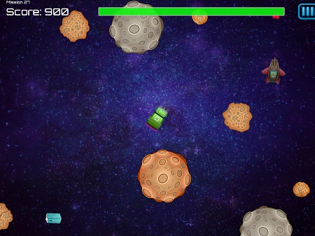 Space Waste Game Play iPad 450